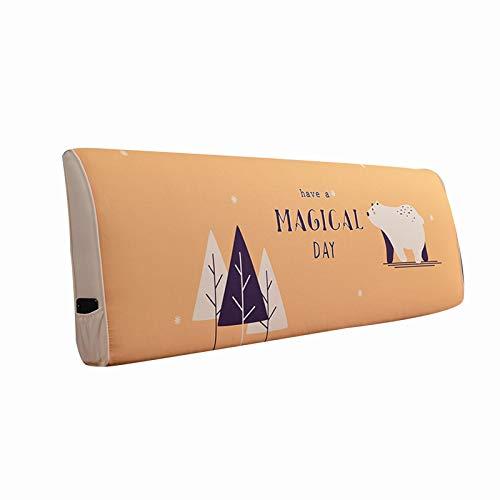 LIQICAI Almohada Cojín De La Cama, Respaldo De Lectura con Funda De Algodón Extraíble, Tapizado Rectangular para Cama Individual Doble King, 4 Colores (Color : B, Size : 155cmX55cmX10cm)