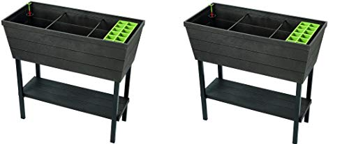 KETER Urban Bloomer 12.7 Gallon Raised Garden Bed with Self Watering...