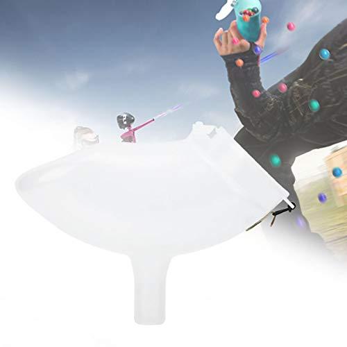 Gmkjh Tolva, tolva de Paintball, tolva de Paintball Transparente de plástico PP Espesa con alimentación de Velocidad elástica Resistente al Desgaste