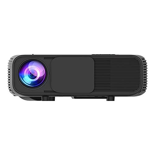 Proyector, proyector de Video Proyector de películas al Aire Libre, resolución HD 1920 * 1080 Proyector de Cine en casa, Compatible con Fire TV Stick, PS4, HDMI, VGA, AV y USB (Color : Black)