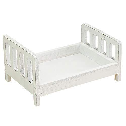 Neugeborene Fotografie Requisiten,Baby Foto Hintergrund Diy Kleine Holzbett Abnehmbare Bett Studio Krippe Schießen Requisiten Zubehör.