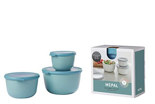Mepal Cirqula Set 3-teilig, PP/TPE, Nordic Grün, 19.5 x 19.2 x 12 cm, 3-Einheiten