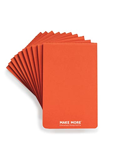 Pack of 10 Orange Revenue Booster Notepads for Restaurant Waitress & Waiter, Perfect for Optimized Order Taking, 80 Lined Pages, 40 Sheets, Brand Launch Deal (14.95 List Price)