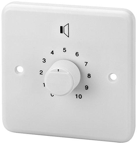 Monacor ATT-212/WS Rotary volume control 12 W - Mando (Rotary volume control, Montado en pared, Blanco, 20-18000 Hz, 12 W, 85 mm)