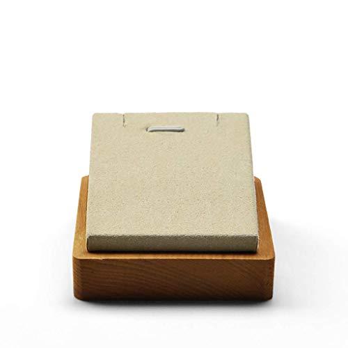 Sieradendoosjes Sieradendoosje Ring Sieraden Display Opbergdoos Opbergdoos Houten Sieradendoosje (Donker grijs/beige,7cm*8cm*4.3cm) (kleur : A)