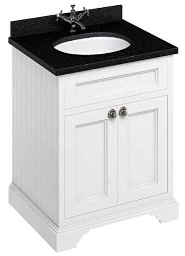 Casa Padrino Waschschrank/Waschtisch mit Granitplatte und 2 Türen - Limited Edition, Farbe Badmöbel:mattweiß