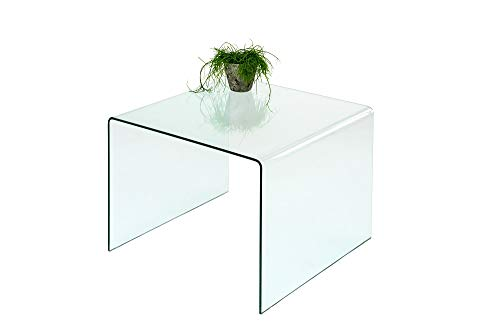 Concept Glas (86) Beistelltisch Glastisch Couchtisch 60x60 cm gebogenes Sicherheitsglas