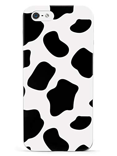 Inspired Cases - 3D Textured iPhone 5/5s/5SE Case - Rubber Bumper Cover - Protective Phone Case for Apple iPhone 5/5s/5SE - Cow Print Pattern