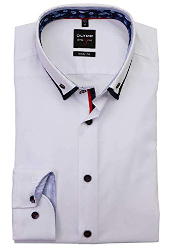 OLYMP Level Five Body fit Hemd Langarm Doppelkragen weiß Größe 40