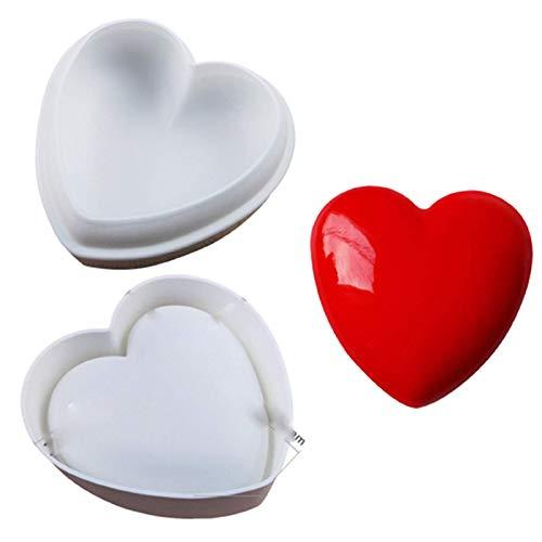 3D Diamante Corazón Forma Silicona Molde DIY Heart Chocolate Postre Hornear Molde Fácil Desmoldar Limpiar No Tóxico, Para Navidad, Decorar Pasteles, Dulces, Chocolate, Cubitos H,A