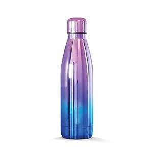 THE STEEL BOTTLE - Bottiglia Termica in Acciaio Inox, Isolamento sottovuoto a Doppia Parete, capacità 500 ml, Chiusura Ermetica, Borraccia Portatile (Blue Purple)