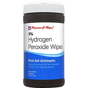 Pharma-C-Wipes 3% Hydrogen Peroxide Wipes - 1 Canister / 40 Wipes