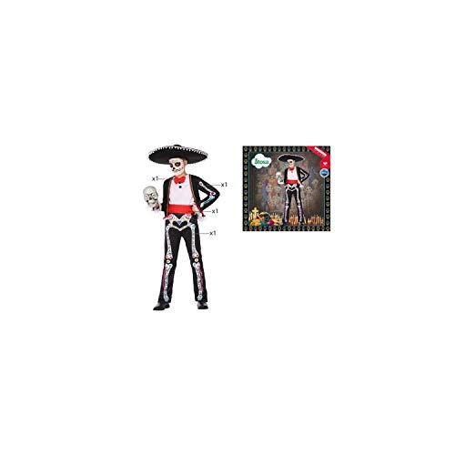 ATOSA disfraz esqueleto colorido mariachi nio infantil 7 a 9 aos