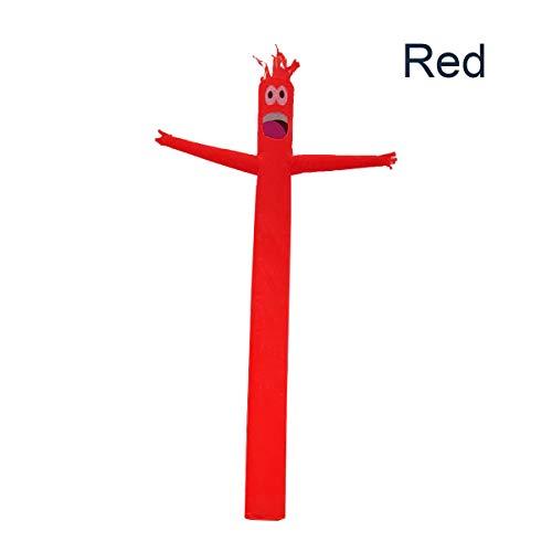 MJJEsports 4m Opblaasbare Reclame Buis Man Lucht Lucht Dansende Puppet Vlag Wacky Golvende Wind Man Decoraties, Rood, 1