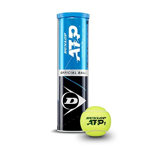 Dunlop Tennisball ATP - für Sand, Hartplatz und Rasen - Profiball (1x4er Dose)