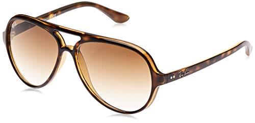 Ray-Ban Cats 5000 Aviator Sonnenbrille, Brown (710/51 Light Havana)