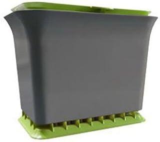 Full Circle Fresh Air Odor-Free Kitchen Compost Bin, Green Slate