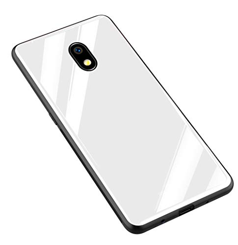 Kepuch Quartz Case Capas TPU &Voltar (Vidro Temperado) para Samsung Galaxy J7 Pro J730 - Branco