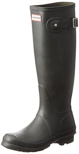 HUNTER Men's Rain Boot, Dark Olive, 7 UK