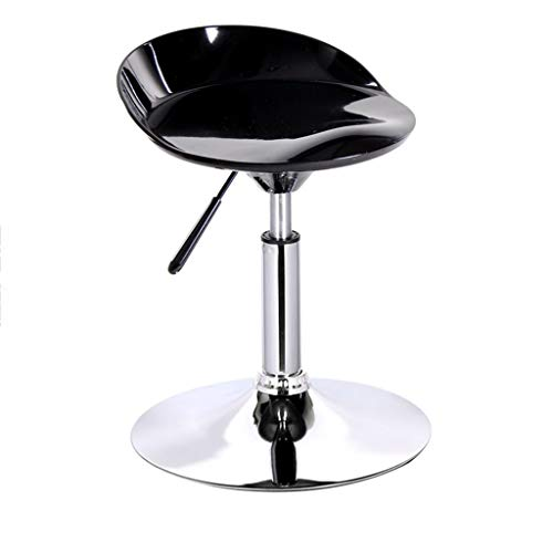 WG Stoel Stoel Abs + Stalen Frame Bar Stoel Mode Kan Lift Air Rod 360 & Deg; Rotatie Barkrukken Eenvoudige Huishoudelijke Bar Receptie Tall Kruk ronde Base Diameter 38,5 Cm -Sponge + Kunstleer