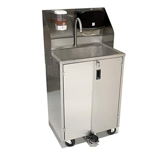 Paragon 4460 Pro Series Portable Sink, 5 gallon capacity, Silver
