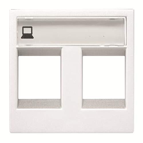 Niessen - n2218.2bl tapa ventana 2 conectores zenit blanco Ref. 6522005163