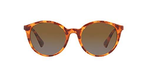 Ralph RA5273 - Gafas de sol unisex para adulto, Shiny Sponged Brown Havana, 53 cm