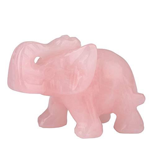 CXZC Geschnitzte Edelsteine Elefant Figur, Jade Elephant Statuen, Reichtum glückliche Figuren, Home Decor Geschenk