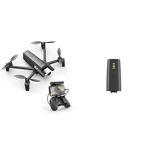 Parrot Anafi Base Drone con Videocamera HDR 4K/foto da 21 MP con Gimbal con Inclinazione a 180°, Nero & ANAFI Batteria Intelligente 7,6 V LiPo, 2 celle, 2700 mAh, autonomia: 25 min, Grigio scuro