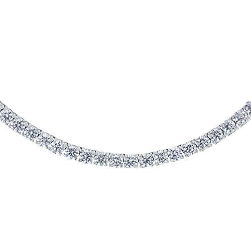 Kobelli Lab Grown Diamond 28.80 Carat Tennis Necklace (Certified)