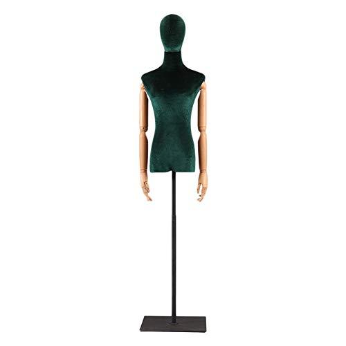 Schneiderpuppe Weiblich Verstellbar Schneider Dummy Female Profi-Form mit schwarzer Rechteck-Unterseite for Kleid Kleidung Schmuck-Anzeigen schneiderbüste ständer HUYP (Color : Green, Size : M)