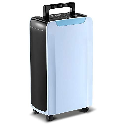 Eurgeen 1000 sq ft Dehumidifier for Home Basement, Bathroom, Bedroom with Continuouse Drain Hose, Up to 30 Pints/Day