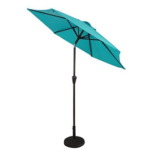Pkfinrd Parasols Ø 7ft Patio Paraplu - Outdoor Tuintafel Paraplu w/Tilt Adjustment, Fade-Resistant Stof/Weefsel, Wind Vent (kleur : Donkergroen)