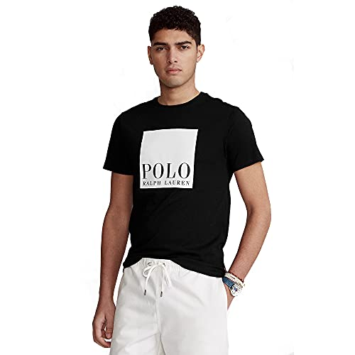Polo Ralph Lauren Camiseta para Hombre Custom Slim Fit 565536 (M, Black)