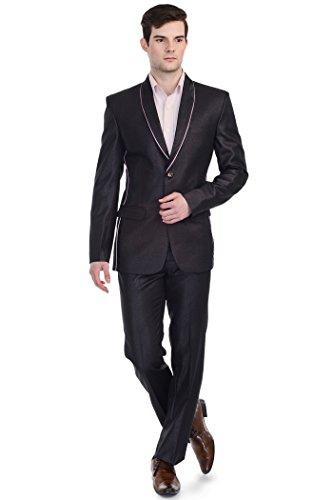 LUXURAZI Costume de mode contemporain pour homme - Rouge - M