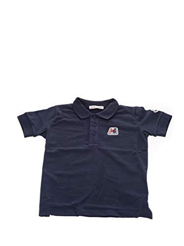 Moncler Luxury Fashion Baby 8A702208496F773 Blau Baumwolle Poloshirt | Frühling Sommer 20