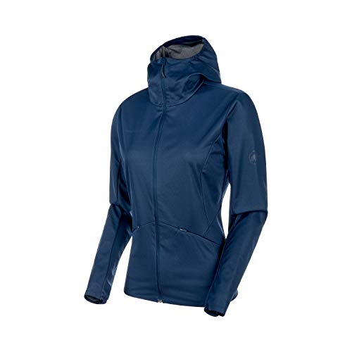 Mammut Damen Ultimate V Tour Softshell-Jacke, Peacoat Melange, L