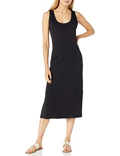 Amazon Brand - Daily Ritual Women's Pima Cotton and Modal Interlock Tank Dress, Black,