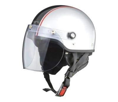 【ホンダ純正】 開閉式ライトスモークシールド装備 ハーフヘルメット 全6色 フリーサイズ57-60未満 サイズ調整スポンジ付き 【ビジネスからタウンユーズまで】 シルバーブラック