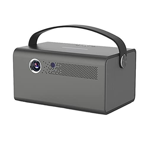 OKMJ Proyector portátil, proyector Inteligente 3D DLP DLP 4200 Lumens Keystone Correction Portable Video Proyector Soporte 4K BT WiFi Mirroring para TV Stick, Reproductor de DVD, Laptop, Videojuegos