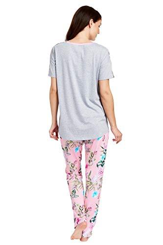 Rösch Damen Flower Market 1183121 Zweiteiliger Schlafanzug, Mehrfarbig (Heather Grey-Multicolor 11886), 42