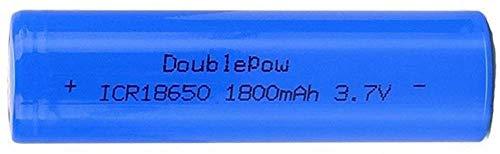 Lukytot 4 Pcs Batería 18650 Recargable Litio Lones Pilas 3.7V 1800mah Capacidad Baterías de Litio Células Acumuladoras para Timbre de Puerta LED Linterna Antorcha (Plano)-Plano