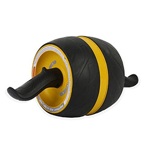 LWJDM AB Roller Wheel, Rueda Abdominales Fitness AB Roller Rodillo Rueda Rebote Automático con Rodillera para Equipo De Ejercicio AB Inferior Entrenamiento Básico De Gimnasio En,Amarillo