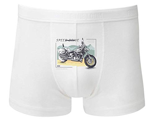 Druckerlebnis24 Boxershort - Motorrad Moped Route66 Amerika - Unterhose für Herren und Männer