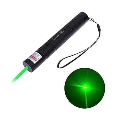 LUCHENG Green Demonstration Presentation Pen,Tactical High Power Long Distance Light with Safety Keys