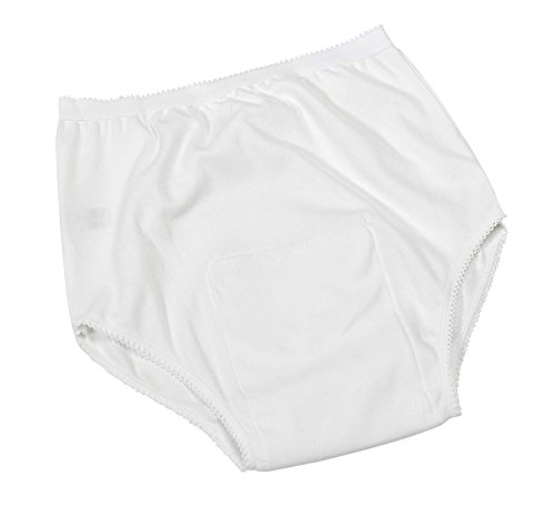 Patterson Medical Damen Tasche Inkontinenz Pants One Paar–X-Large, Weiß