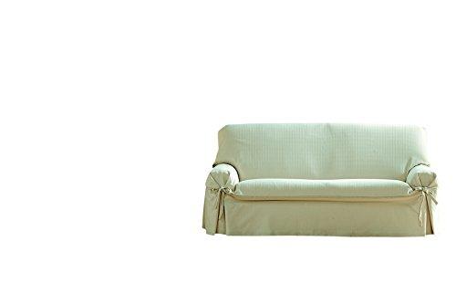 Eysa Copertura per divano di 3 posti Paola, 180 x 230 cm, Cotone, Beige