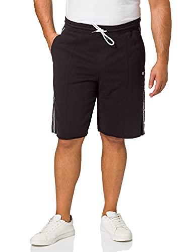 Champion Herren Seasonal American Tape Shorts Cargos, Black, L