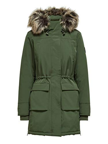 Only ONLNEWSALLY Long Nylon Coat OTW Parca, Forest Night, L para Mujer
