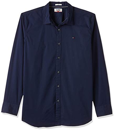 Tommy Hilfiger Original Stretch Camicia Casual, Blu (Black Iris 002), XXL Uomo